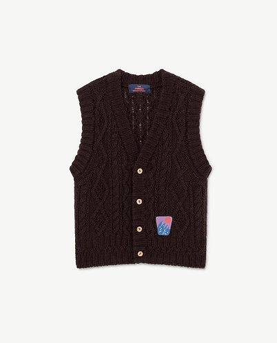 Bat Vest, Deep Brown - TAO