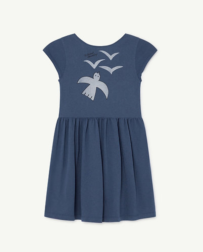 Butterfly Kids Dress, Blue Birds - TAO