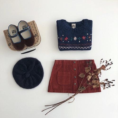 Corduory Skirt, Roux - BONTON