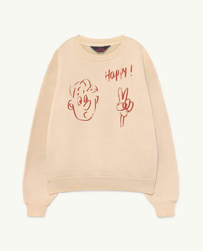 Bear Kids Sweatshirt, Pink Happy - TAO