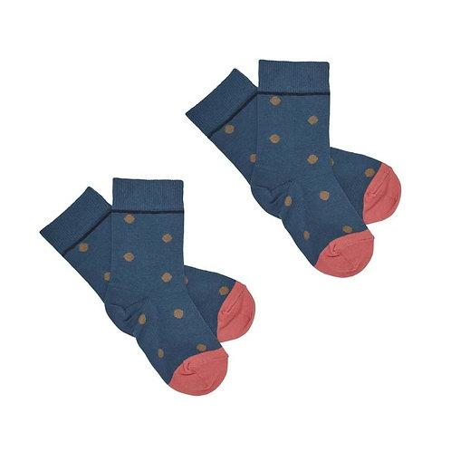 Dot Short Socks, Indigo - Fub