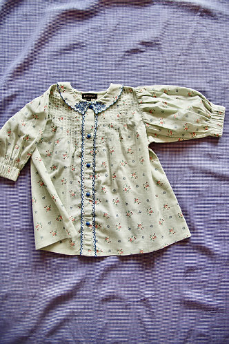 Embroidered Collar Blouse, Anise Flowers - Bonjour Diary