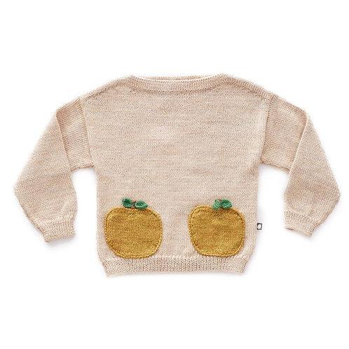 Apple Sweater, Beige/Mustard - Oeuf