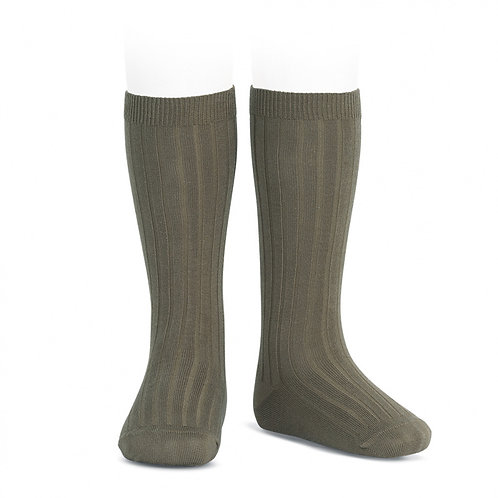 Rib Knee High Sock, Mink 350 - Condor