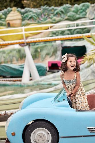 Marceline Dress, Cream Flowers - Louise Misha