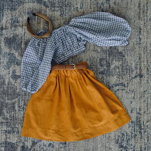The Mabel Top, Blue Check - Mysie & Nola The Label