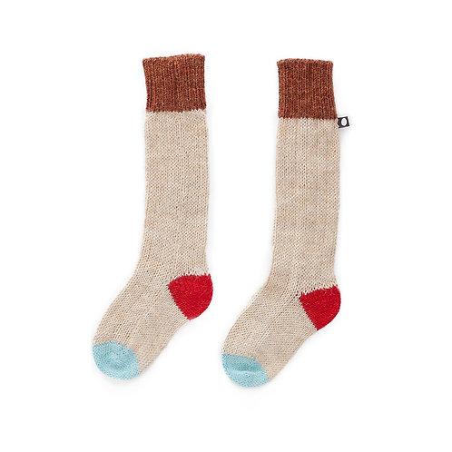 Long Socks, Beige/Multi - Oeuf