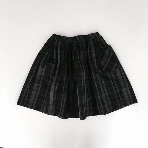 Skirt Yuna Charcoal Plaid - Makie