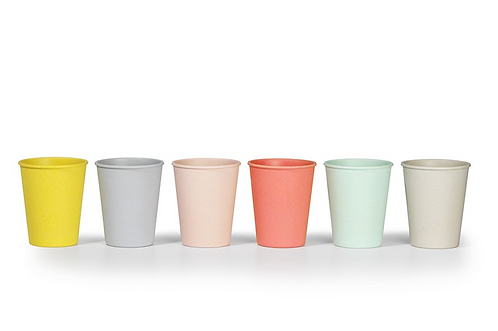 Set 6x coloured cups