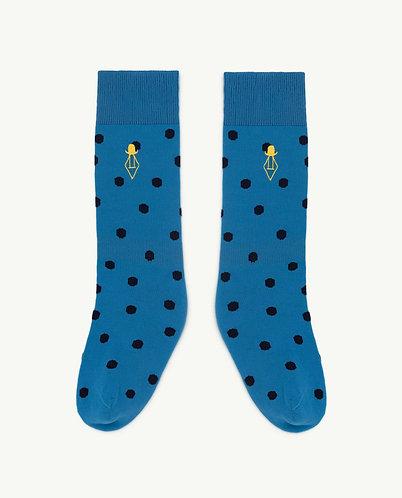 Hen Kids Socks, Blue Logo - TAO