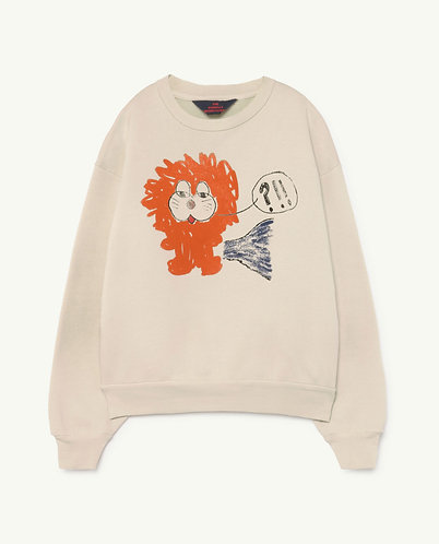 Bear Kids Sweatshirt, White Lion - TAO