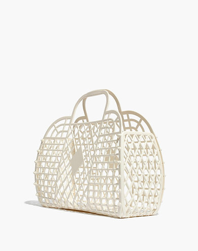 Retro Basket, Cream - Sun Jellies