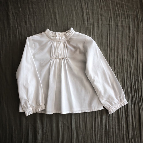 Sissi Embroidered Blouse, White - Noro