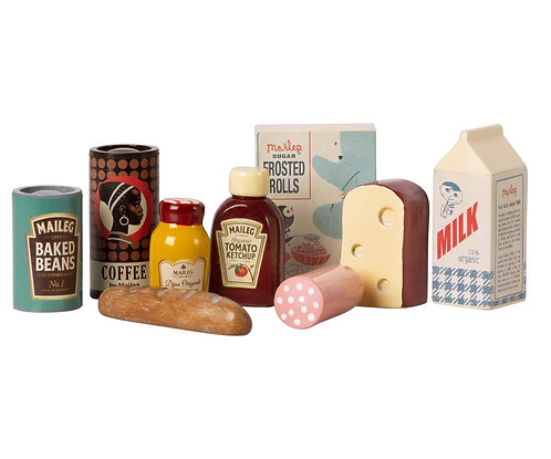 Vintage Food In Grocery Wooden Box - Maileg