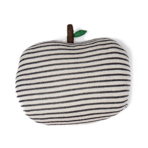 Apple Pillow - Dark Grey /White Stripes - Oeuf