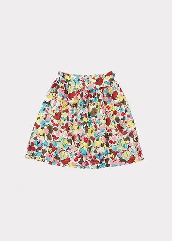 Flounder Skirt, PaintedFlower - Caramel
