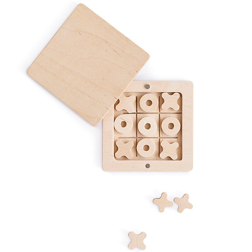 Wooden Game, Tic-Tac-Toe - Babai Toy