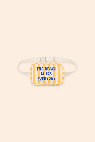 The Beach Is For Everyone Fanny Bag, Yellow - Tiny Cottons