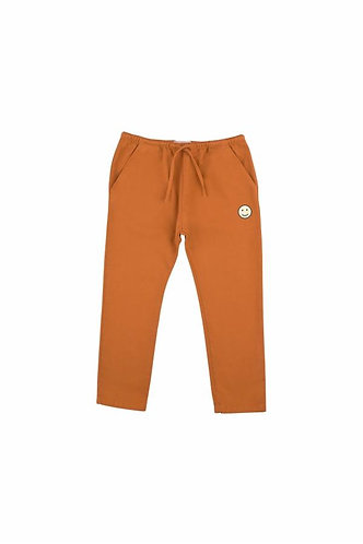 Happy Face Cropped Pant, Brown - Tiny Cottons