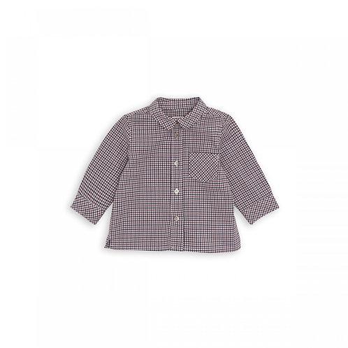 Maca Kurta Shirt, Carreaux rouge - BONTON