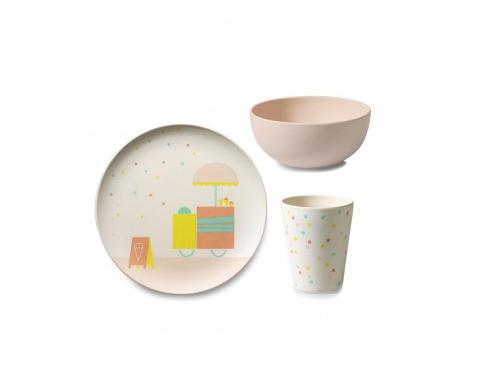 Bamboo children's tableware Ice cream