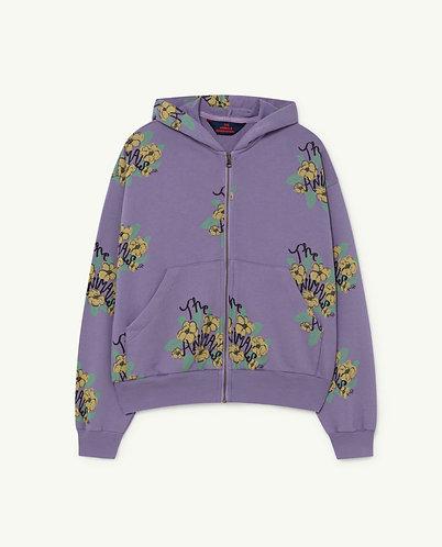 Seahorse Kids Sweatshirt, Purple Flowers - TAO