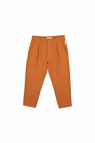 Solid Pleat Pant, Brown - Tiny Cottons