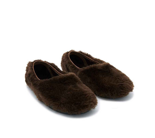 Miaow Fur Shoes, Marron - BONTON