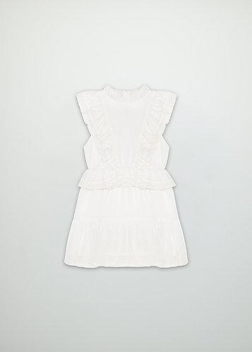Antonia Dress, Off White - the new society