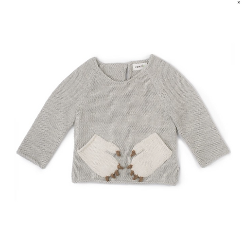 Monster Sweater, Light grey - Oeuf