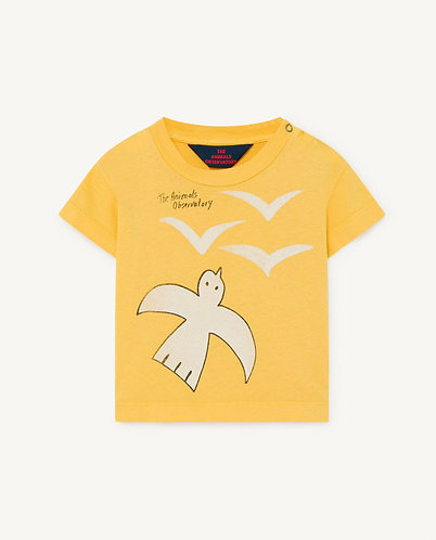 Rooster Baby T-Shirt, Yellow Birds - TAO
