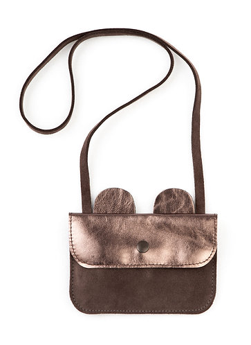 Bear Leather Bag, Brown - Tocoto Vintage