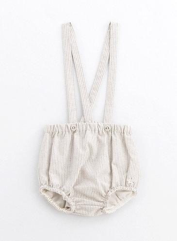 Stripes Blomer Suspender, Grey - Tocoto Vintage