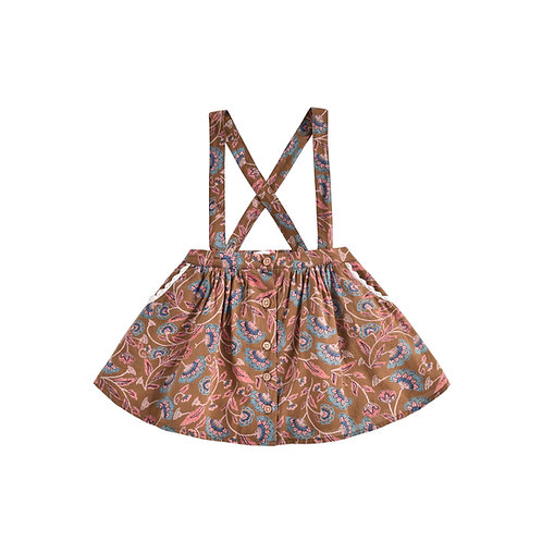 Asanna Skirt, Bronze Folk Flowers - Louise Misha