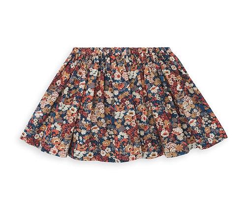 Short Printed Skirt, Imp Marron - BONTON