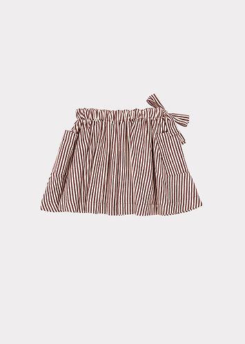 Cormoran Skirt, Brown Stripe - Caramel