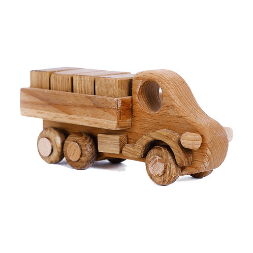 Wooden Logging Truck With Blocks