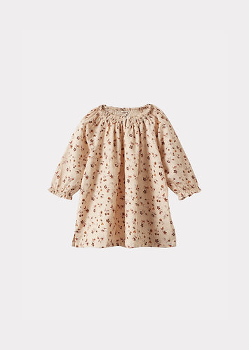 Arowana Baby Dress, Ditsy Floral Print - Caramel London