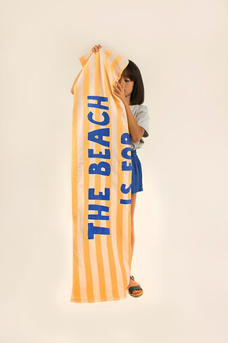 Manifesto Towel, Light Cream/ Yellow - Tiny Cottons