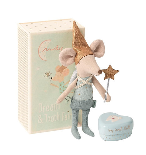 Tooth Fairy Brother Mouse in box - Maileg