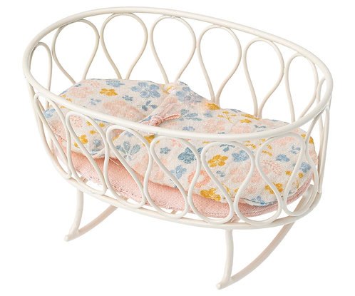 Cradle With Sleeping Bag Micro, Off White - Maileg