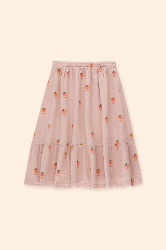 Ice Cream Long Skirt, Duty Pink - Tiny Cottons