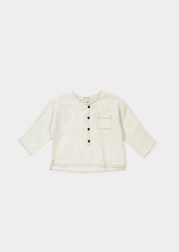 Eagle Baby Shirt, Cloud Grey - Caramel