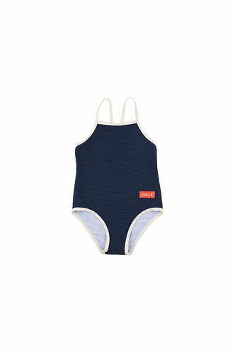 Smile Swimsuit, Navy - Tiny Cottons