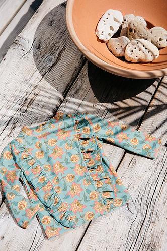 Toluca UV Protect Set, Turquoise Flowers - Louise Misha