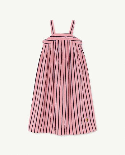Giraffe Kids Dress, Pink Stripes - TAO