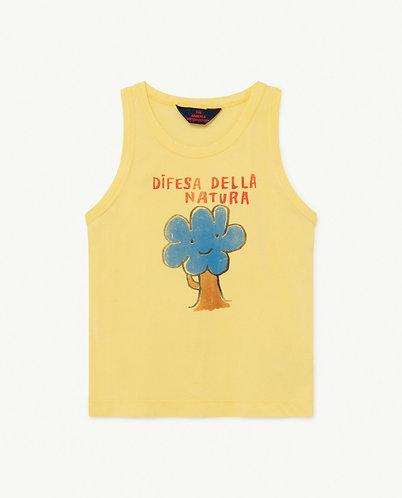 Frog Kids T-Shirt, Soft Yellow Tree  - TAO
