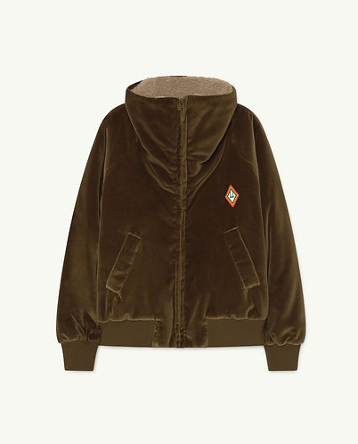 Tiger Kids Jacket, Khaki Logo - TAO