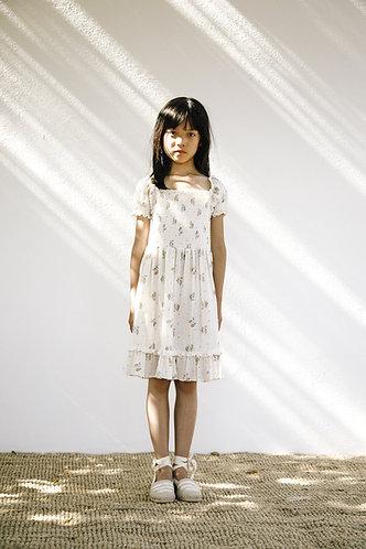 Tilda Smocked Dress, Summer Blossom - LiiLU