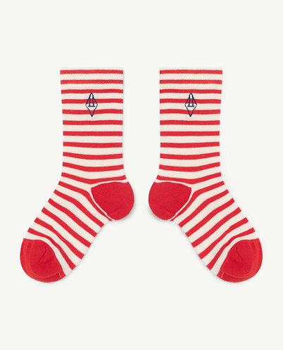 Snail Kids Socks, Red - TAO